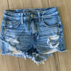 American Eagle Outfitters Lace Bottom Shorts